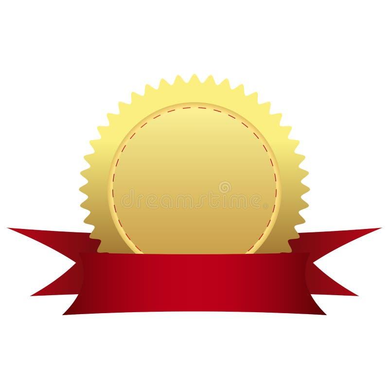 Medalha de ouro com fita fotografia de stock royalty free