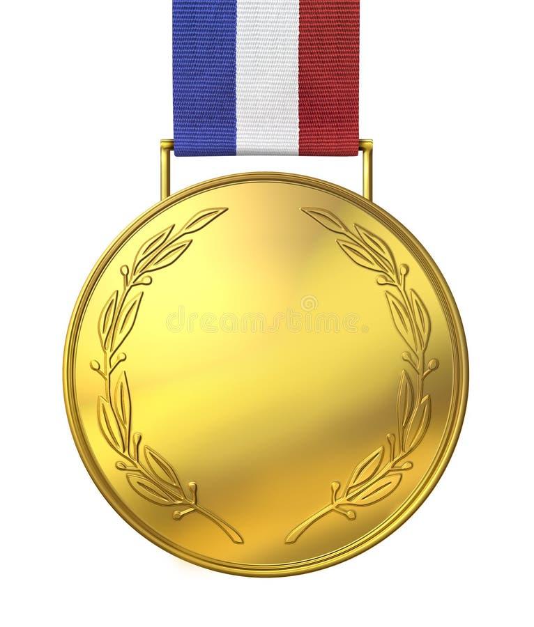 Medalha de ouro de honra ilustração royalty free
