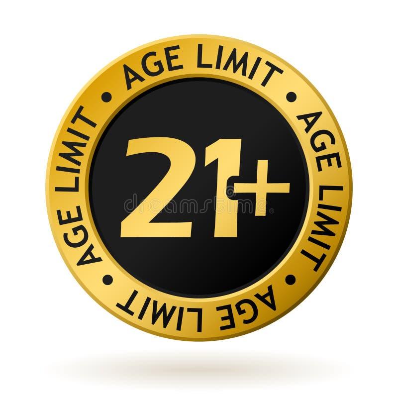 Medalha de ouro do limite de idade do vetor ilustração stock