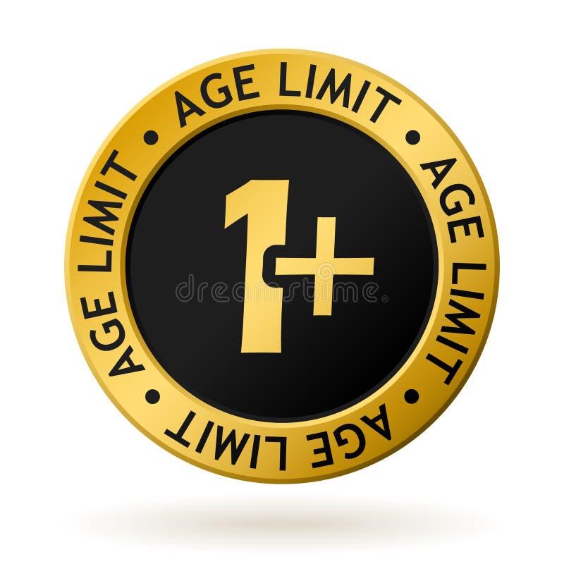 Medalha de ouro do limite de idade do vetor ilustração royalty free