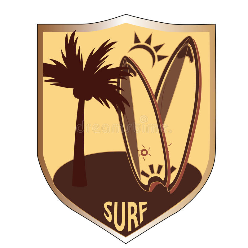 A medalha de surfar ilustração do vetor