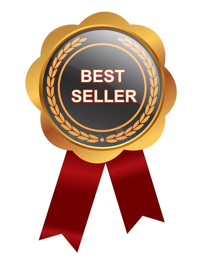 Medalha do bestseller ilustração do vetor