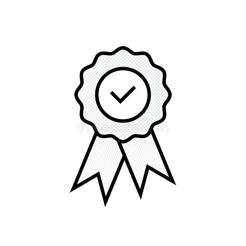 Medalha do certificado da garantia com aprovado ilustração royalty free