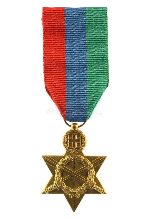 Medalha do grego da segunda guerra mundial fotos de stock