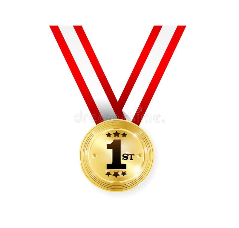 Medalha do vencedor ilustração royalty free