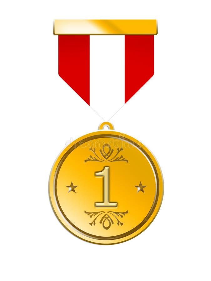 Medalha dourada ilustração stock