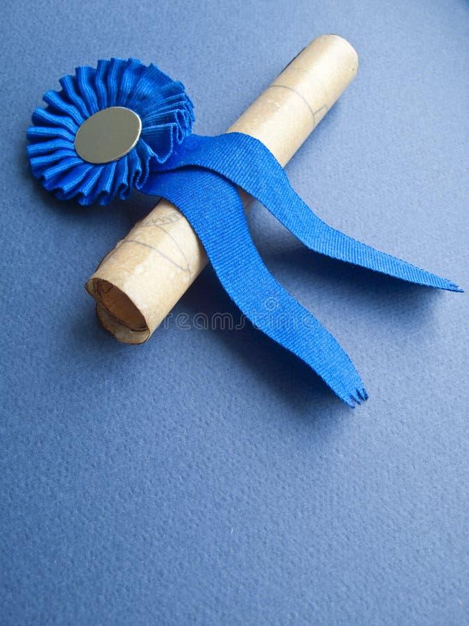 Medalha e diploma foto de stock