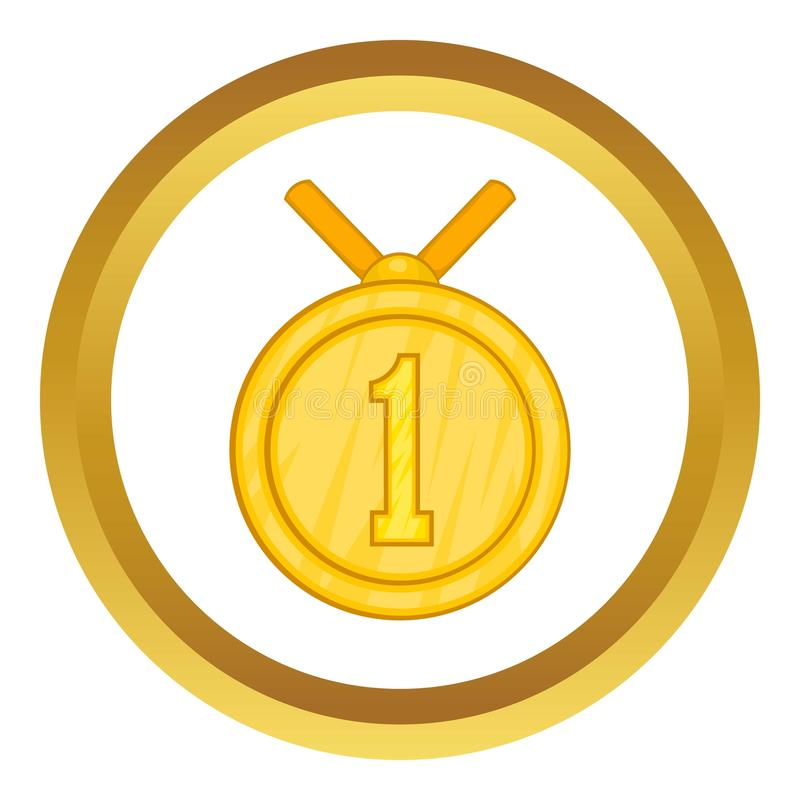 Medalha para o primeiro ícone do lugar ilustração do vetor