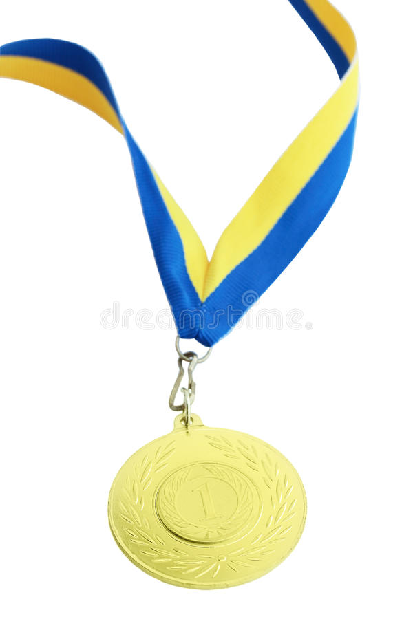 Medalha para o primeiro lugar fotos de stock royalty free