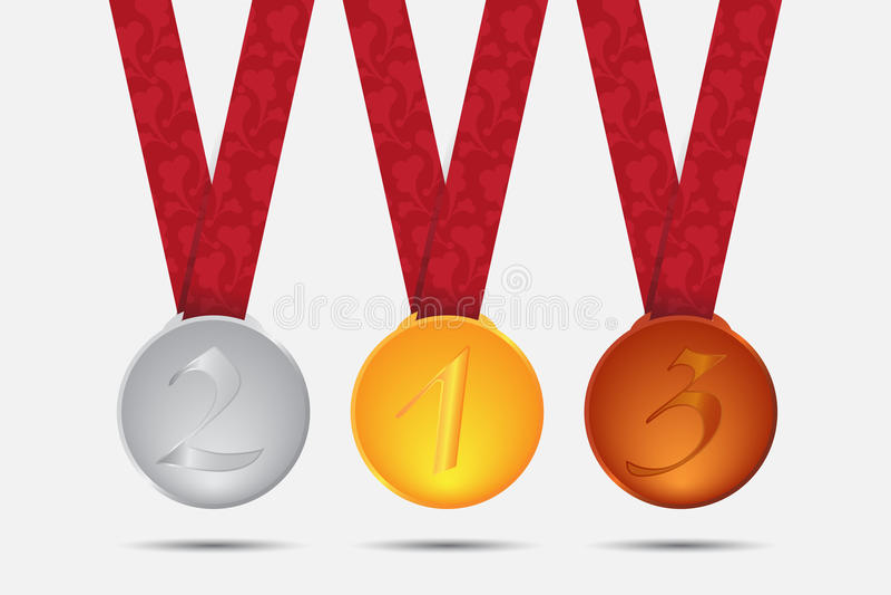 Medalhas ilustração royalty free