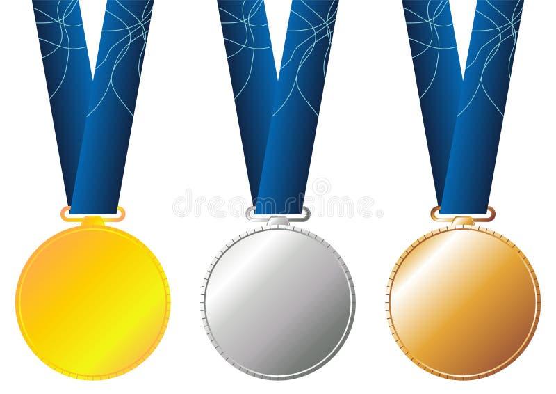 Medalhas ajustadas ilustração stock