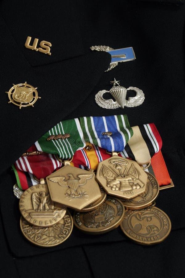 Medalhas do exército dos EUA fotos de stock