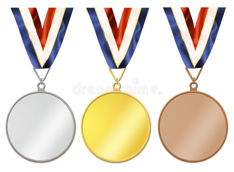Medalhas em branco ilustração stock