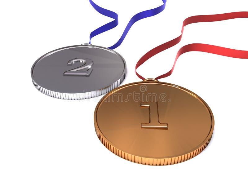 Medalhas olímpicas ilustração royalty free
