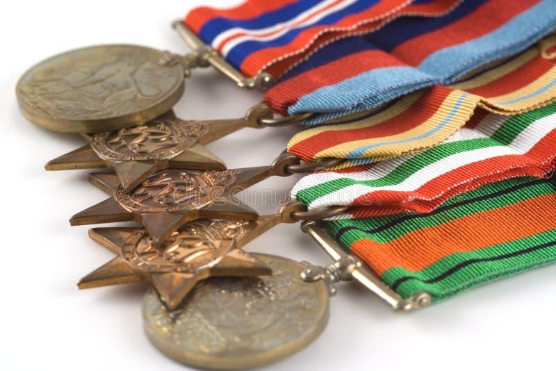 Medalhas para a bravura fotografia de stock