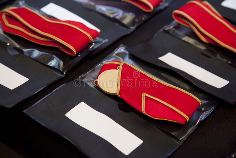 Medalhas prontas para ser apresentado fotos de stock