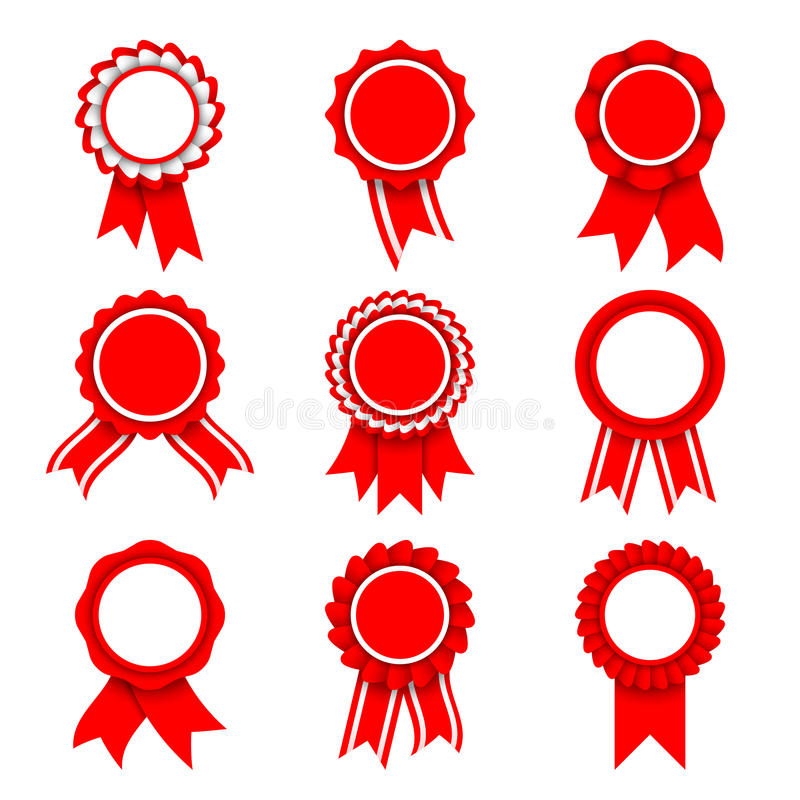 Medalhas vermelhas da concessão ilustração royalty free