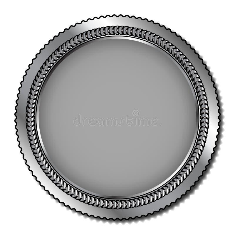 Medalhista de prata ilustração do vetor