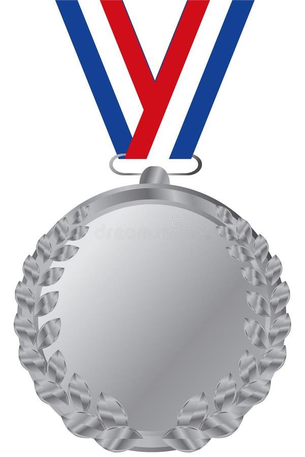 Medalhista de prata ilustração royalty free