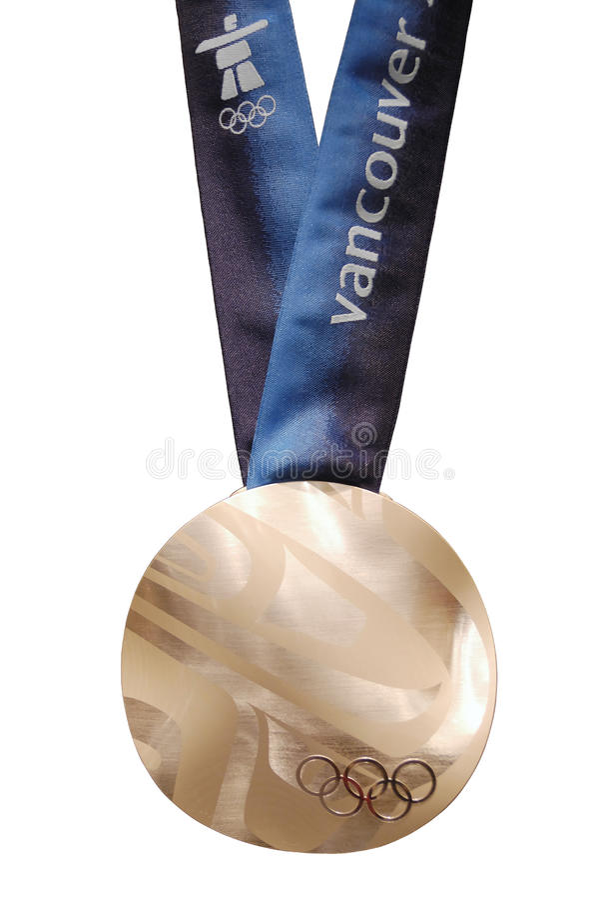 Medalhista de prata dos Olympics de Vancôver 2010 fotos de stock
