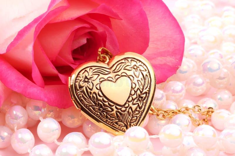 medalion serca zdjęcia stock