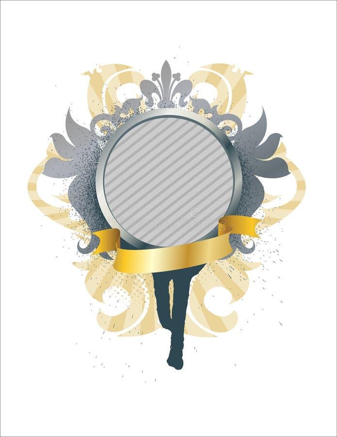 medalionu ozdobny wstążki royalty ilustracja