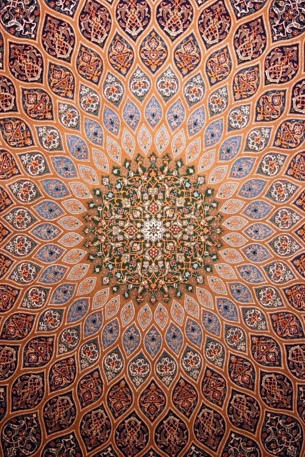 Medalionu szczegół Perski dywanik obrazy royalty free