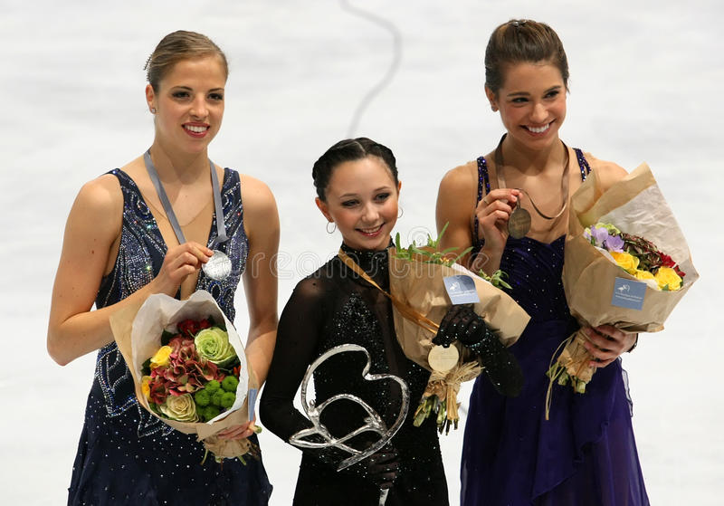 Download Medalists In Ladies Single Skating Editorial Photography - Image: 22136742