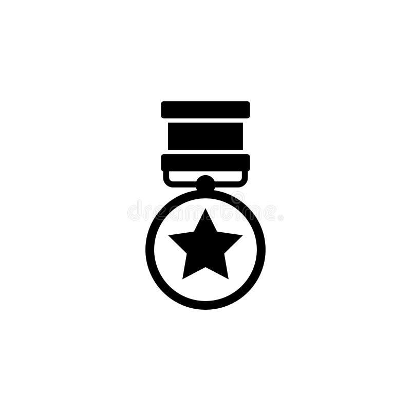 Medalj av mod Medalj av heder För utmärkelselägenhet för krig militär symbol för vektor stock illustrationer
