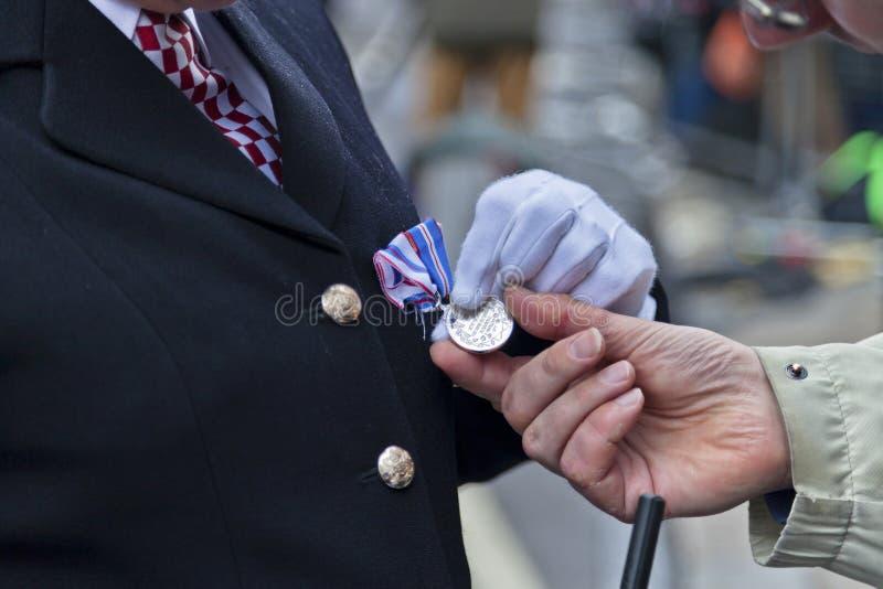 Medalj av prestationen royaltyfri fotografi