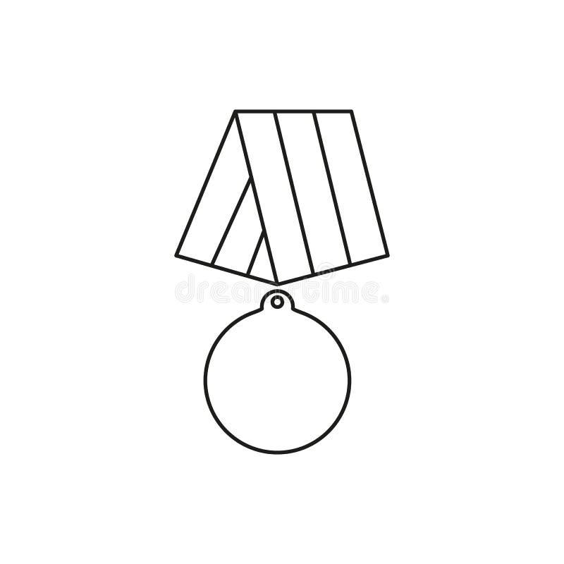 Medalj av symboler för veterandag för hjälte vektor illustrationer