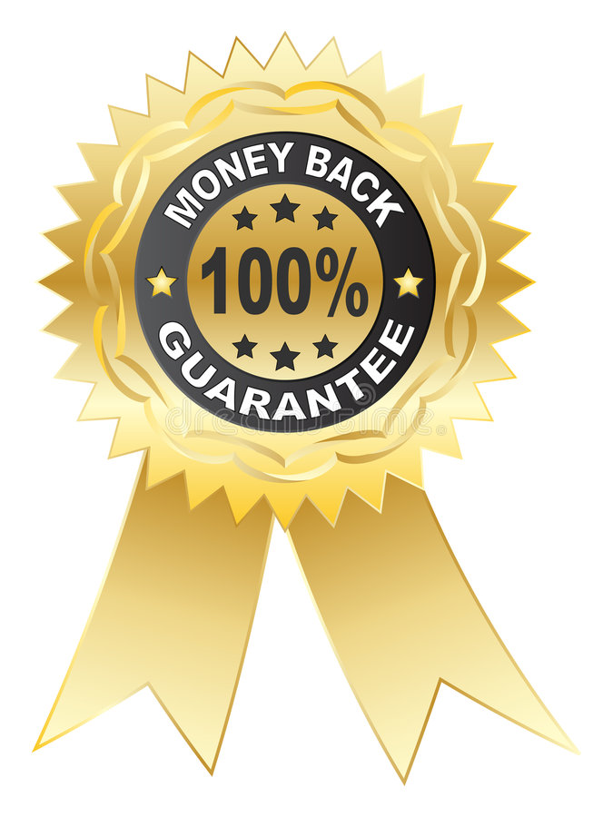 medalj för 100 guarantee vektor illustrationer
