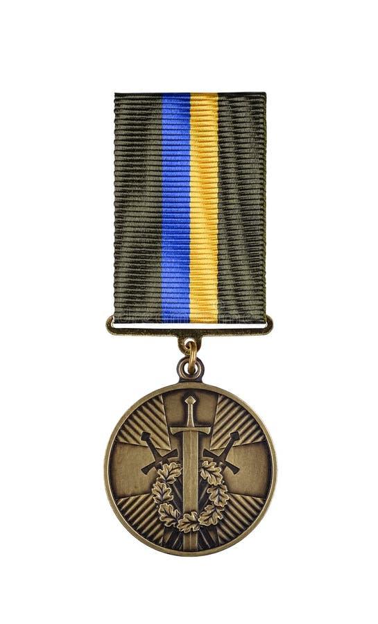 Medalj 'för deltagande i den antiterrorist operationen 'som upprättas av den ukrainska presidenten Peter Poroshenko royaltyfria bilder
