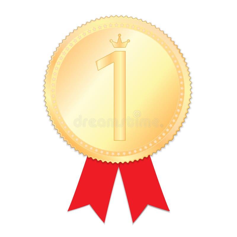 medalj nummer ett royaltyfri illustrationer
