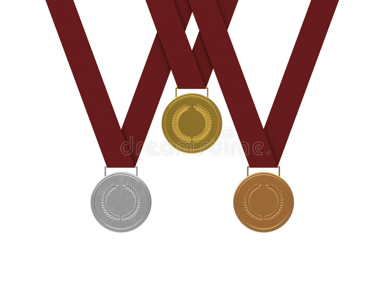medaljer stock illustrationer