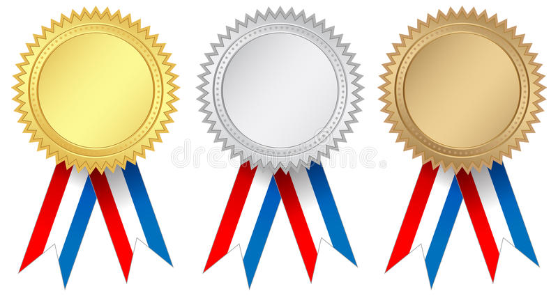Medaljer stock illustrationer