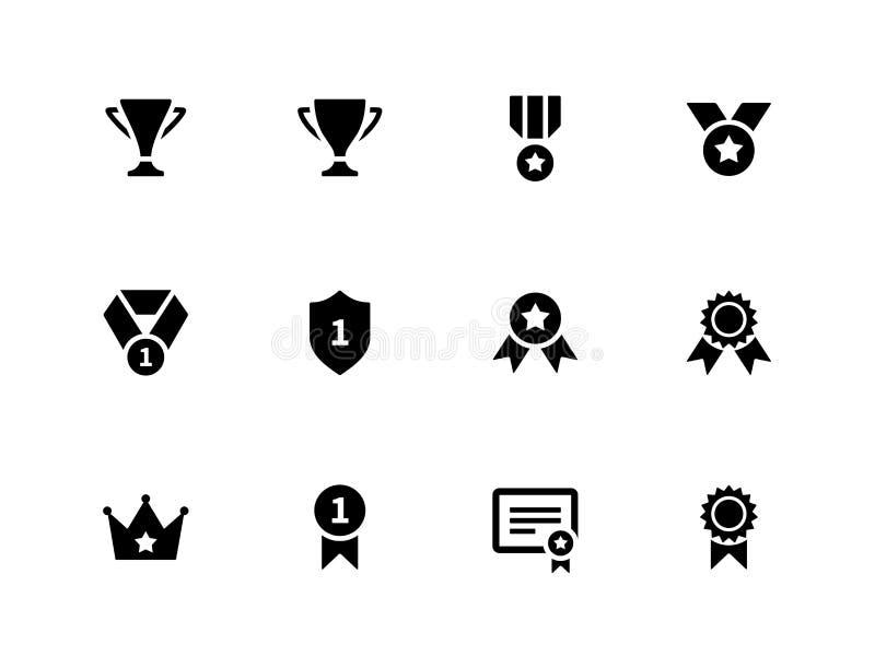 Medaljer och koppsymboler stock illustrationer
