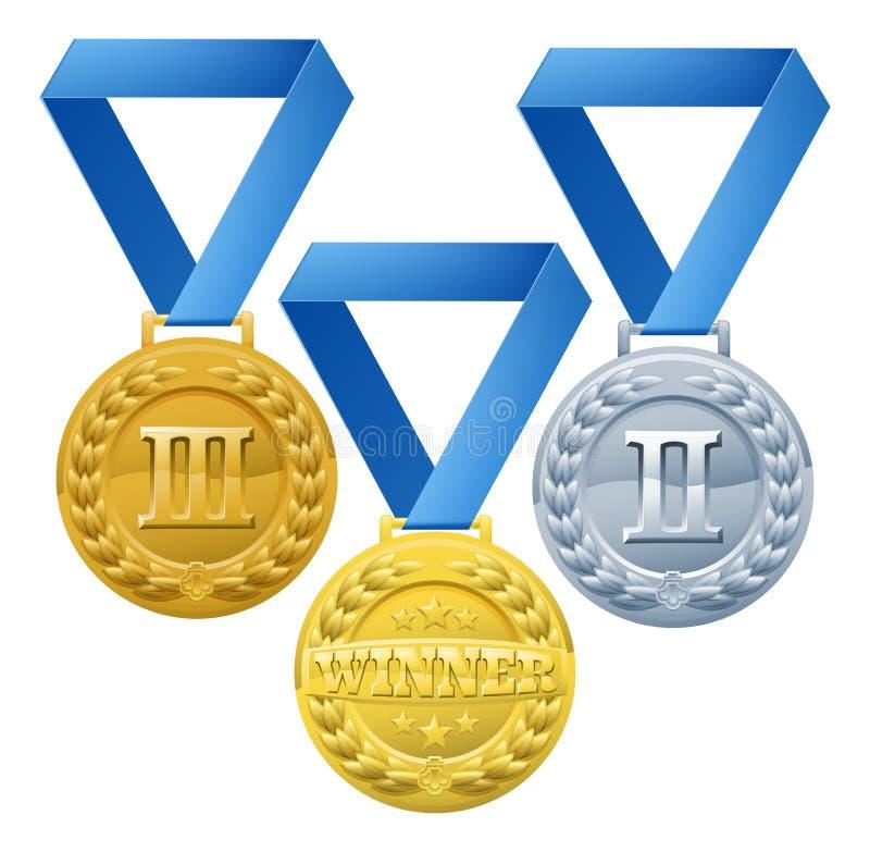 Medaljillustration royaltyfri illustrationer