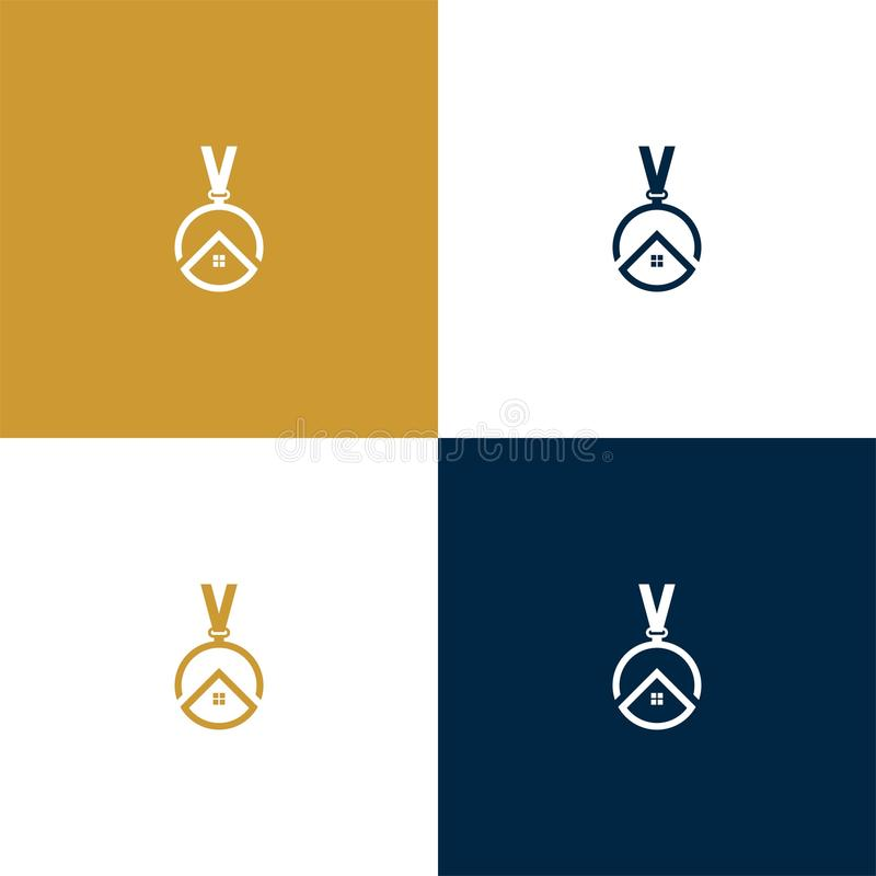 Medaljonghem royaltyfri illustrationer