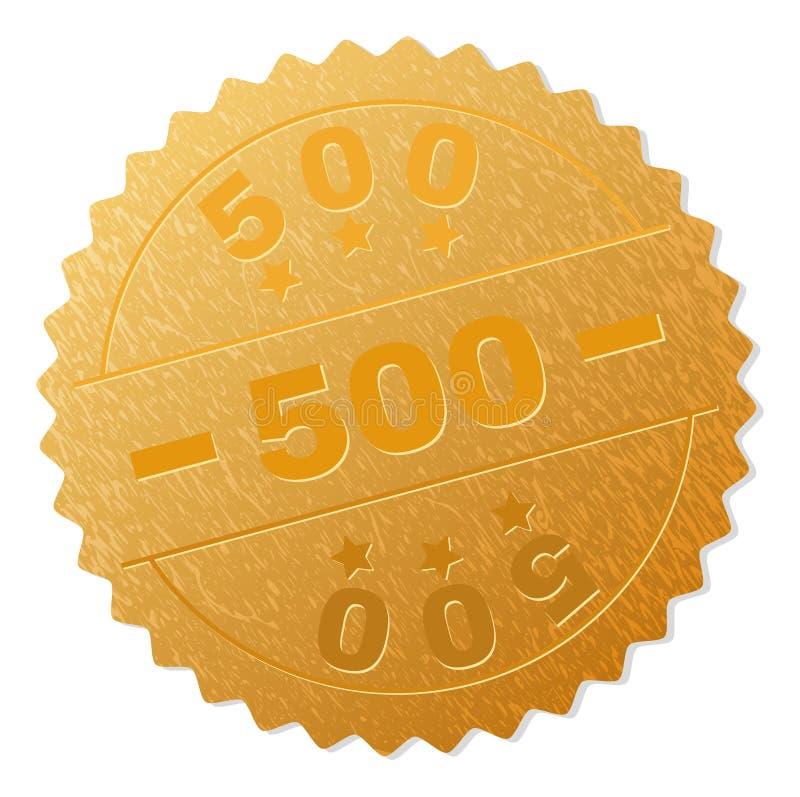 Medaljstämpel för guld 500 stock illustrationer