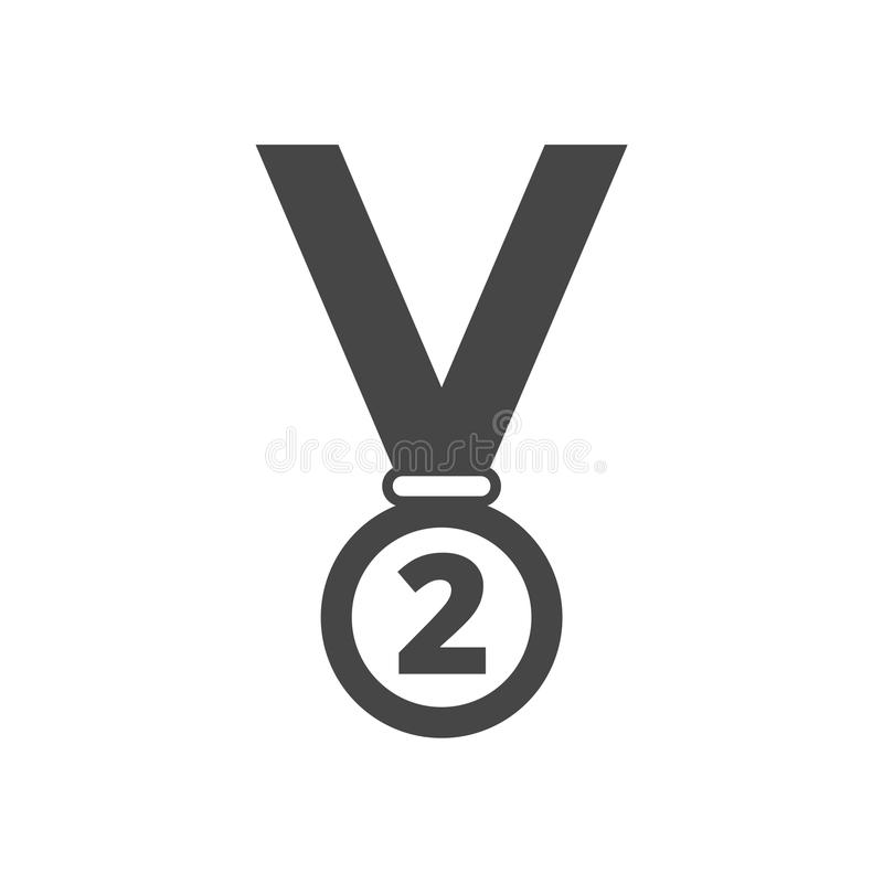 Medaljsymbol, inga 2 royaltyfri illustrationer