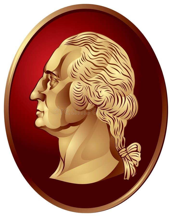 Medallón de George Washington stock de ilustración