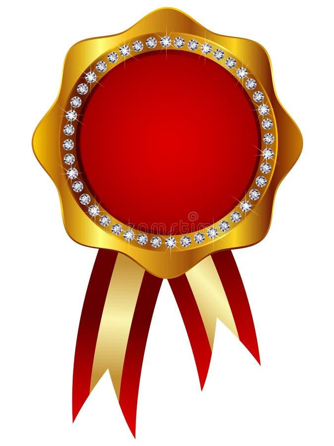 Medalla ilustración del vector. Ilustración de rojo, winning - 26780339