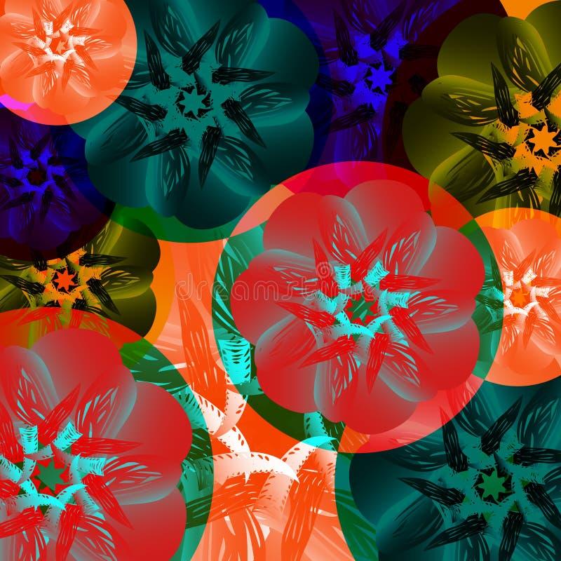 Medalla Abstracta De Flores El Verano Colorea El Tucán, Tropical ...
