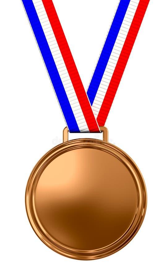 Medalla de bronce en blanco ilustración del vector