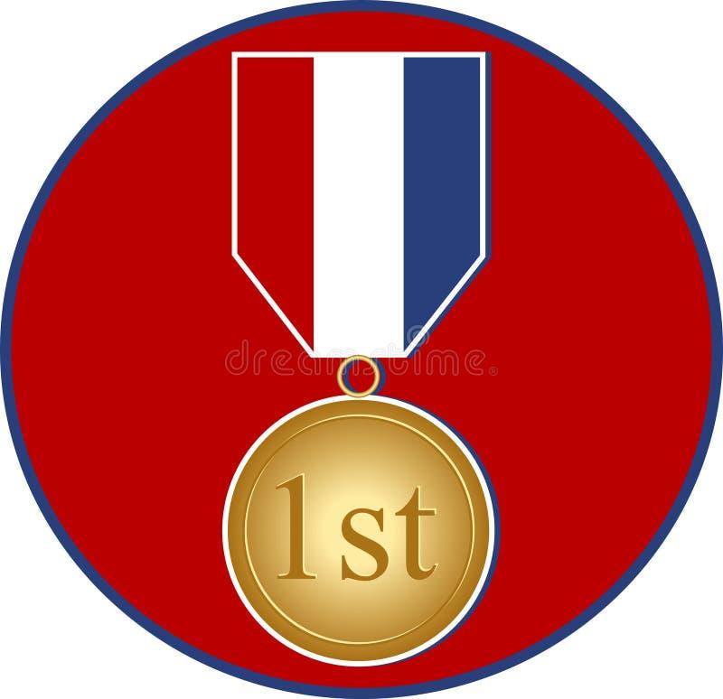 Medalla de los deportes ilustración del vector