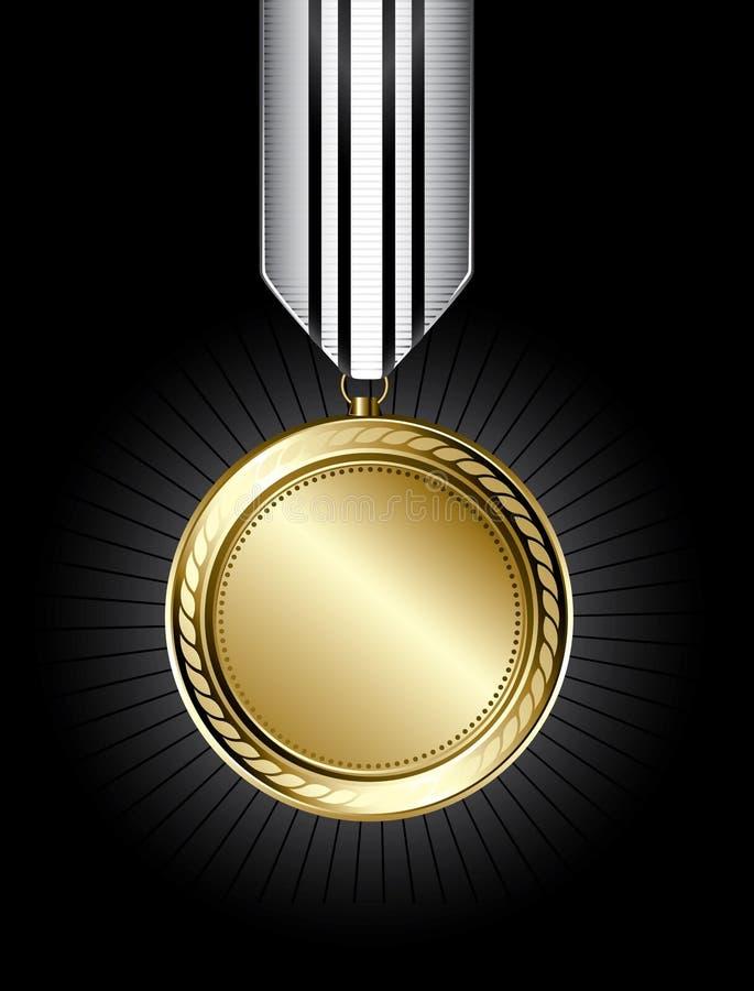 Medalla de oro stock de ilustración
