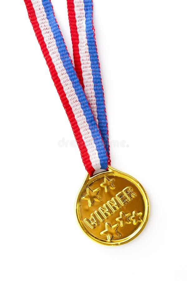 Medalla de oro imagen de archivo libre de regalías