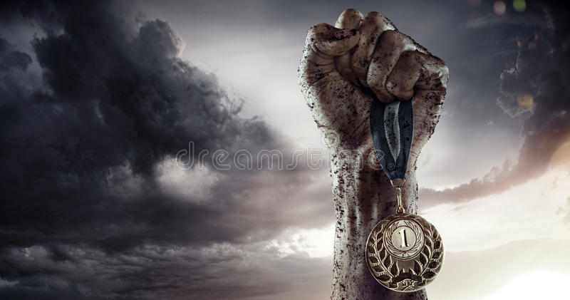 Medalla de oro imagenes de archivo