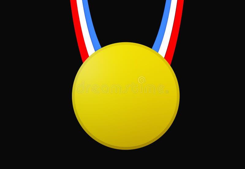 Medalla de oro ilustración del vector
